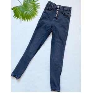 Zara   hi rise Button fly skinny jeans